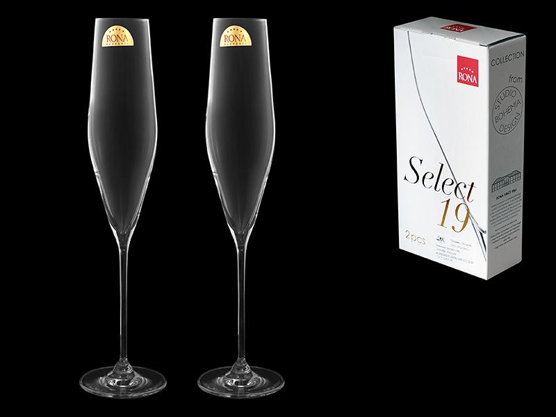 Набор из 2 бокалов для шампанского «Swan», 190 мл набор бокалов для шампанского виола 190 мл