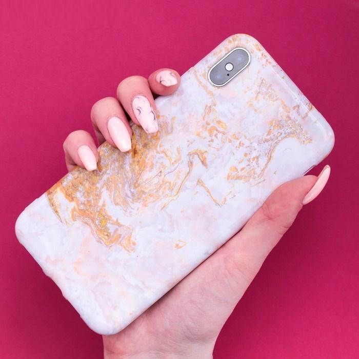 Чехол для телефона iPhone XS Max «Мрамор» фото