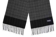 Шерстяной шарф, мужской серый 30022