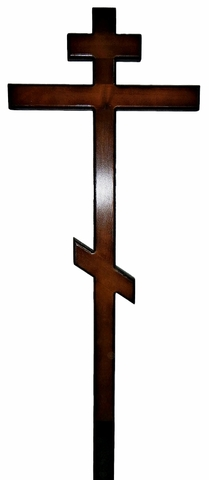 Крест простой лакированный