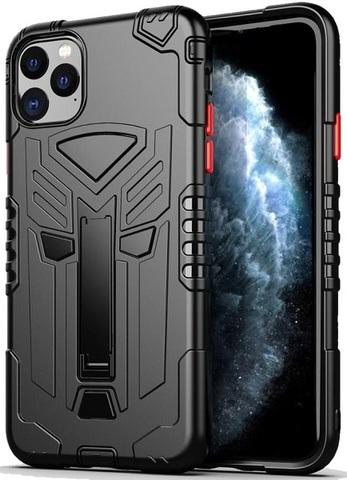 Чехол для iPhone 11 Pro Max серии Dual X с магнитом и складной подставкой, черного цвета, Caseport