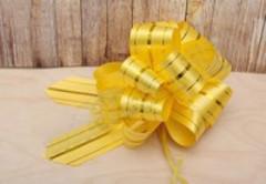 Бант-шар Золотые линии (5 см) Желтый