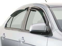Дефлекторы боковых окон для Kia Soul 2008-2014 темные, 4 части, EGR (92441007B)