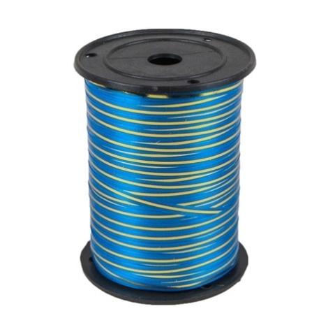 Лента золотая полоса Россия (размер 0,5 см х 230 м) Цвет: синий