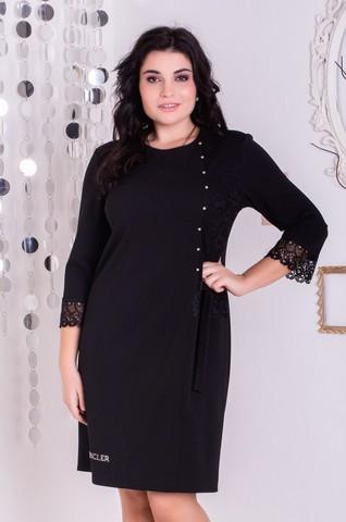 Франческа. Красивое платье больших размеров. Черный