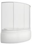 шторки для ванной 170*110см Лагуна, 4-х створчатая, Пластик