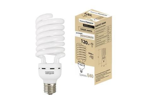 Лампа люминесцентная НЛ-HS-120 Вт-4000 К–Е40