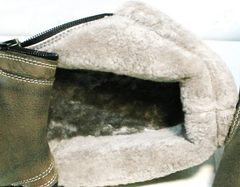 Ботинки на цигейке мужские Rifellini Rovigo 046 Brown Black.