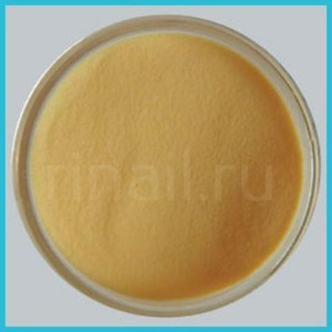 Цветная акриловая пудра Желтая с микроблестками