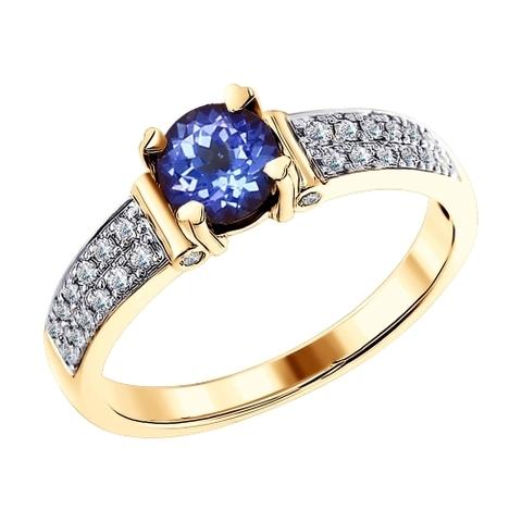 6014098 - Кольцо из золота с бриллиантами и танзанитом