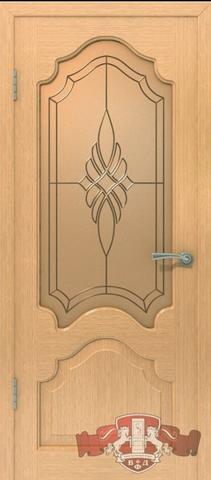 Дверь 11ДО1 (орех, остекленная шпонированная), фабрика Владимирская фабрика дверей