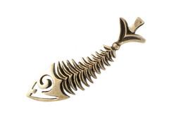 Скелет рыбы память моря кулон