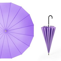 Японский зонт трость 16 спиц AKSISUR сиреневый