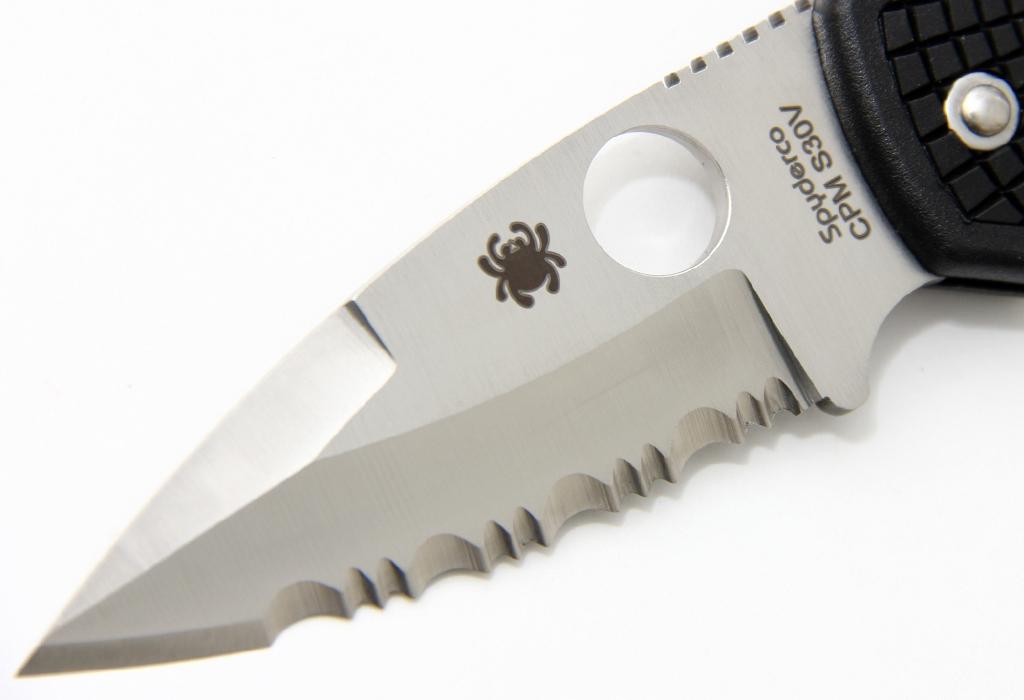 Нож Spyderco Native C41PSBK серрейтор - фотография