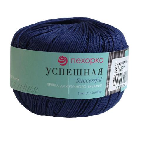 Пряжа Пехорка Успешная темно-синий 04