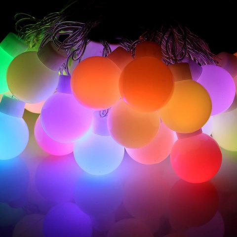 Гирлянда шарики больших размеров LED