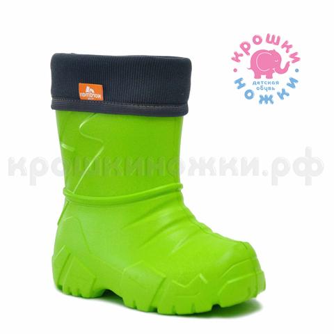 Сапоги утеплённые манжета вельвет зеленые Nordman Kids