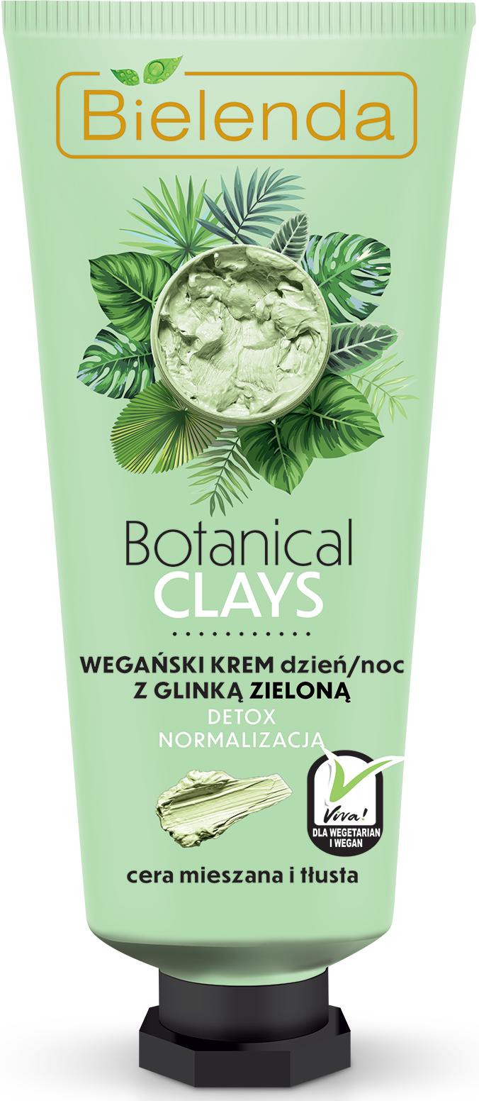 BOTANICAL CLAYS веганский крем для лица с зелёной глиной день/ночь 50 мл