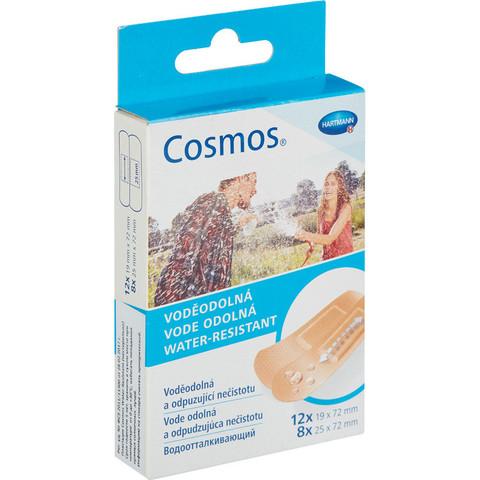 Набор пластырей водоотталкивающих Cosmos 2 размера (20 штук в упаковке)