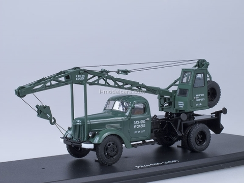 ZIL-164 Truck Crane LAZ-690 green Start Scale Models (SSM) 1:43