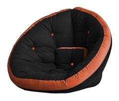 Кресло Farla Lounge Чёрное с оранжевым