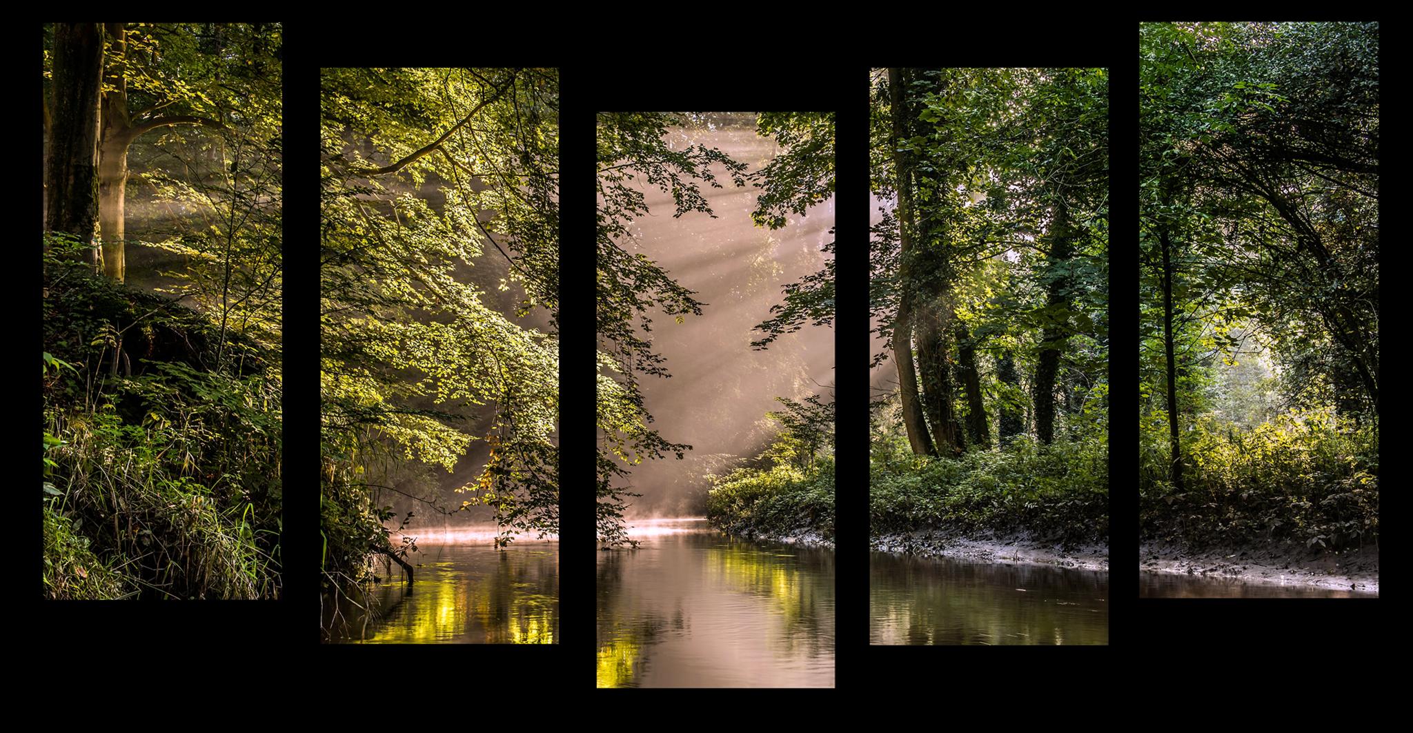 """Модульные картины Модульная картина """"Река в зеленом лесу"""" М1125.png"""