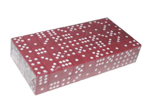 Кубик игровой №15. Цвет красный. Продажа упаковками. В упаковке 100 шт. К15-#-К
