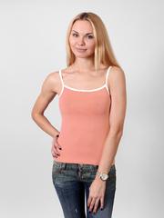 030-8 майка женская, оранжевая