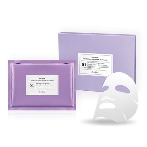 Премиальная тканевая шёлковая маска со скваланом, 30 г / Dr. Althea Premium Squalane Silk Mask