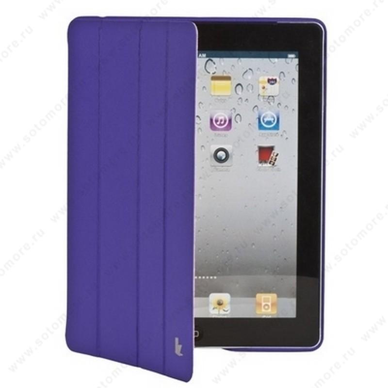 Чехол-книжка Jisoncase Executive для Apple iPad 4/ 3/ 2 фиолетовый JS-IPD-06H