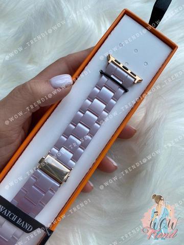Ремешок Apple watch 42/44mm Resin band /lavender/