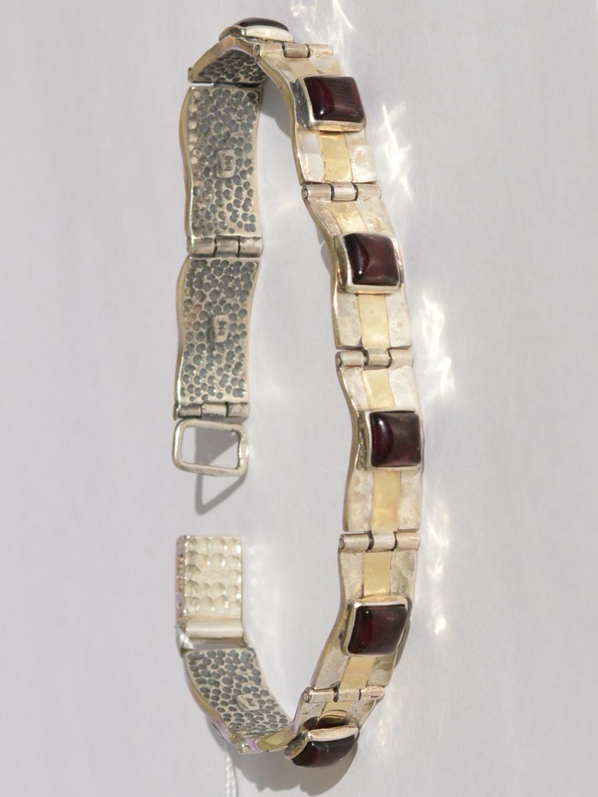 Гранат 634 (браслет из серебра/золота)