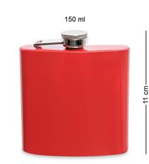 Фляжка 180 мл, красная, фото 5