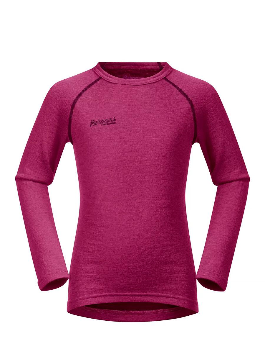 Bergans термобелье 1873 футболка Akeleie Kids Shirt Raspberry/Beet Red