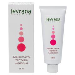 Levrana, Зубная паста противокариесная, 75мл