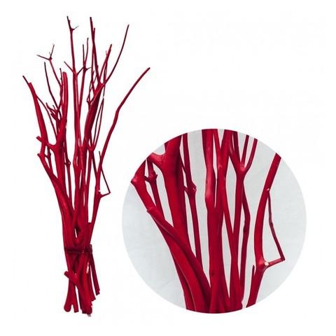 Набор веток декоративных Mitsumata, 3шт. красный