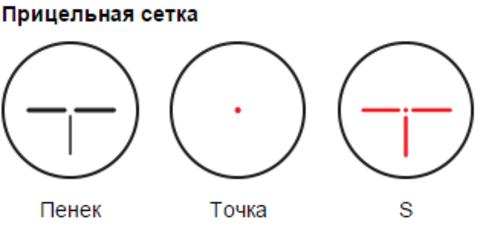 ПРИЦЕЛ КОЛЛИМАТОРНЫЙ ПИЛАД ВОМЗ Р1Х30 (ЛАСТОЧКИН ХВОСТ)