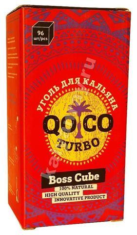 Кокосовый уголь Qoqo Turbo 1 кг 96 кубиков
