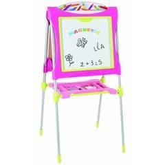 Smoby Двухсторонний розовый мольберт, 125*63*63 см (28064)