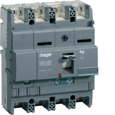 Автоматический выключатель, x250, TM рег. Im=13..6In, 4P4D 40kA 100-63A, 440В АС