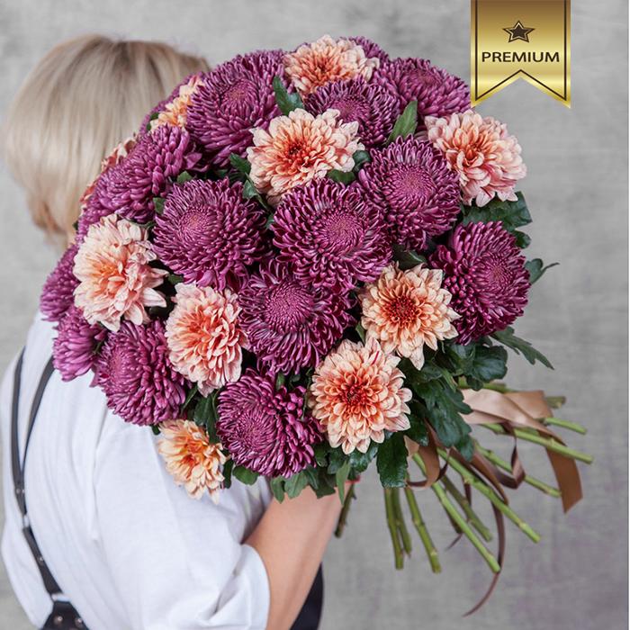 Хризантемы крупноцветковые микс от 3шт