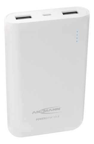 Универсальный аккумулятор ANSMANN Powerbank 10800mA -белый