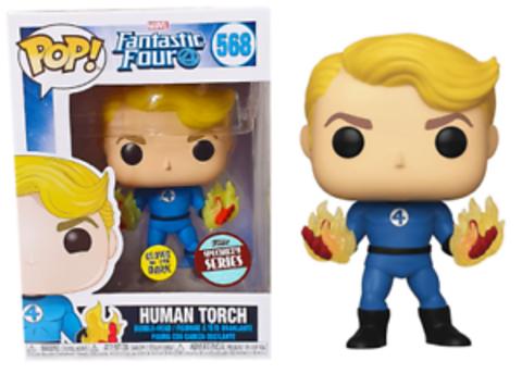 Human Torch (568) (Fantastic Four) Funko Pop!    Человек-Факел (светится в темноте)