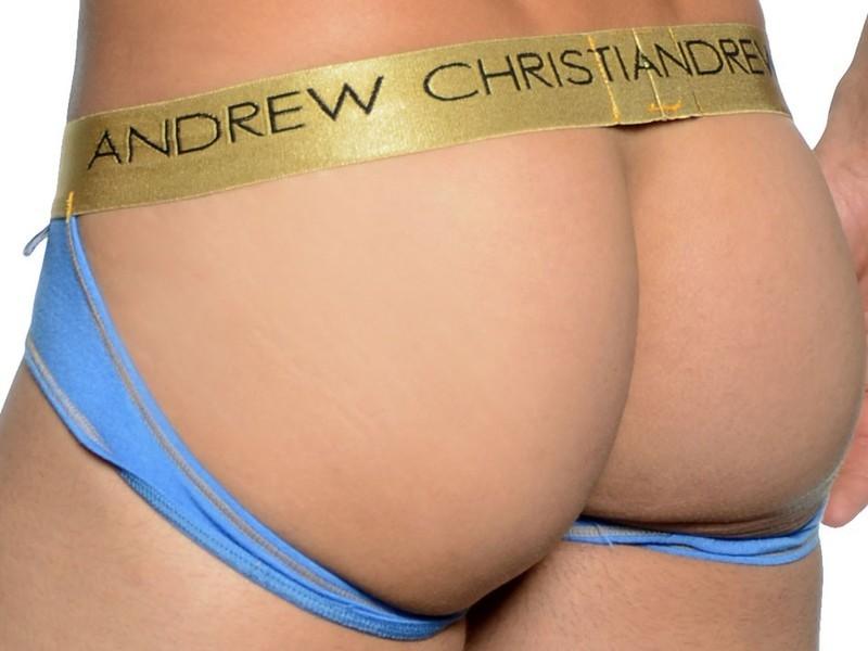 Мужские трусы джоки голубые  Andrew Christian Infiniti Jock blue AC28