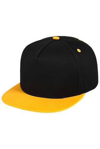 Бейсболка черная с желтым фото 1
