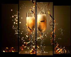 Модульная картина''Шампанское''