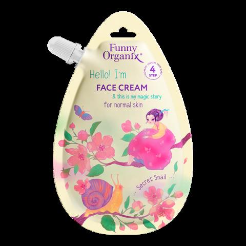 Funny Organix Secret Snail & Healing Herbs Крем для лица для нормальной кожи 20 мл