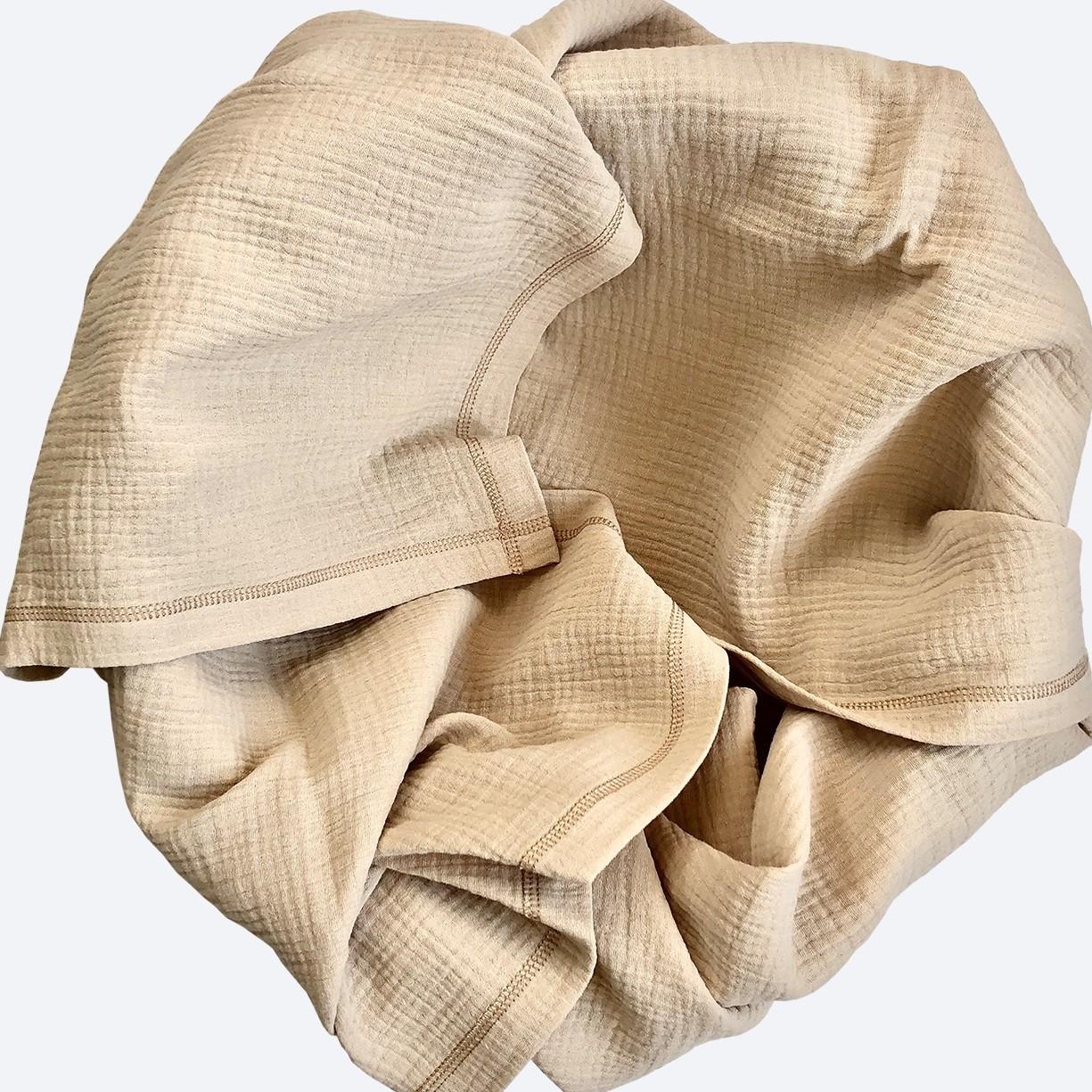 Плед-пелёнка Mjölk Gold Sand из муслинового хлопка