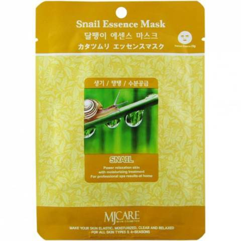 Маска для лица с экстрактом улитки MIJIN COSMETICS Snail Essence Mask 30гр