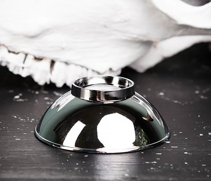 RAZ450 Красивая чаша для бритья из стали фото 04